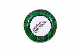 Malachite Palm Dessert Plates (case of 12)