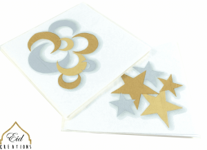 Crescent Star Gold/Silver Dinner Napkins (case of 24)