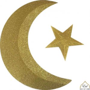 Crescent and Star 3D (case of 12)
