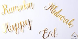 Eid/Ramadan/Happy/Mubarak Cut Outs (case of 12)